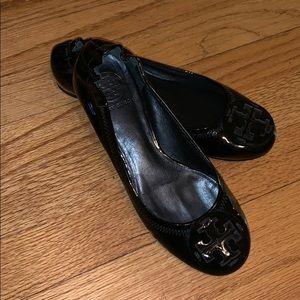 Tory Burch Reva Flats Patent Leather black/black